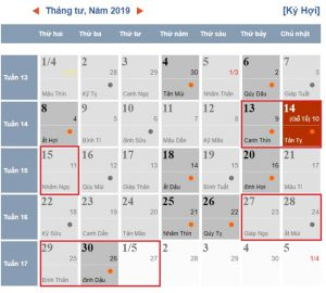 [Lễ tháng 4/2019] Nghỉ 03 ngày dịp giỗ Tổ Hùng Vương và 05 ngày dịp 30/4, 1/5