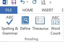 Tắt tính năng kiểm tra chính tả ngữ pháp trong Word 2013