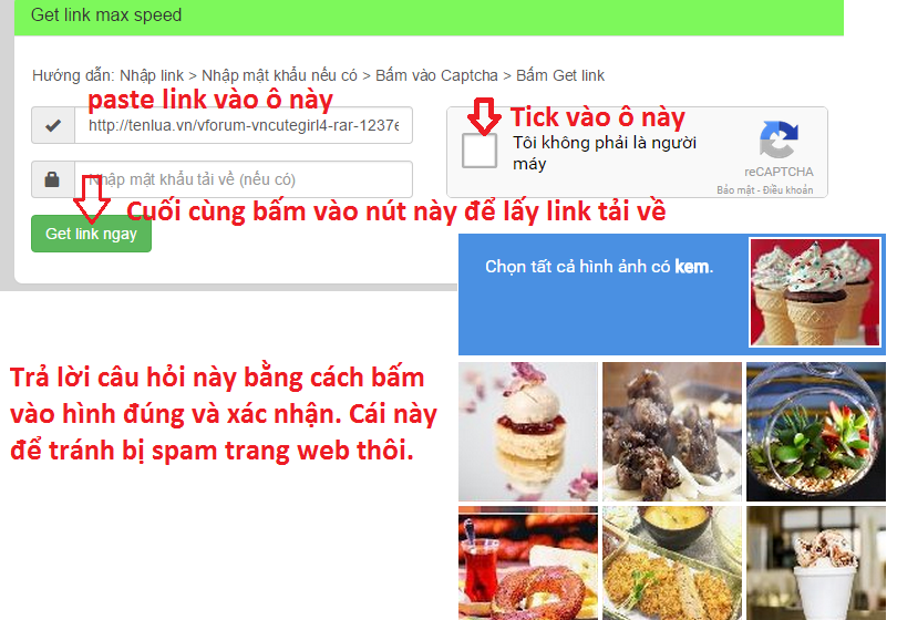 Chia sẻ Website hỗ trợ getlink Tenlua.vn, Fshare, 4share.vn cho anh em