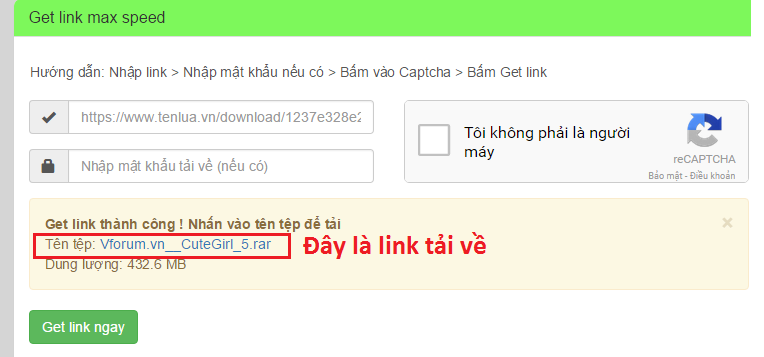 Chia sẻ Website hỗ trợ getlink Tenlua.vn, Fshare, 4share.vn cho anh em 2
