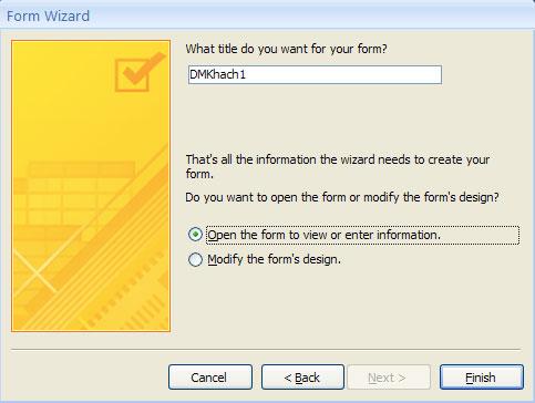 MS Access 2007 - Bài 12:Thiết kế Forms