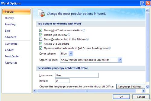 MS Word - Bài 3: Tùy chỉnh môi trường Word