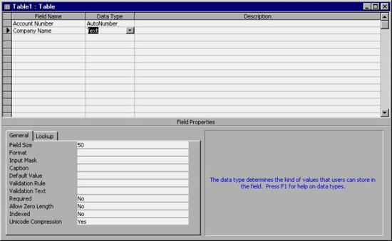 MS Access 2003 - Bài 15: Tạo một bảng từ ban đầu