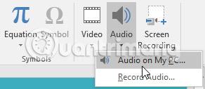 Cách chèn âm thanh trong PowerPoint 2016