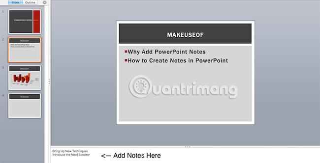 Cách thêm và in ghi chú trong slide PowerPoint