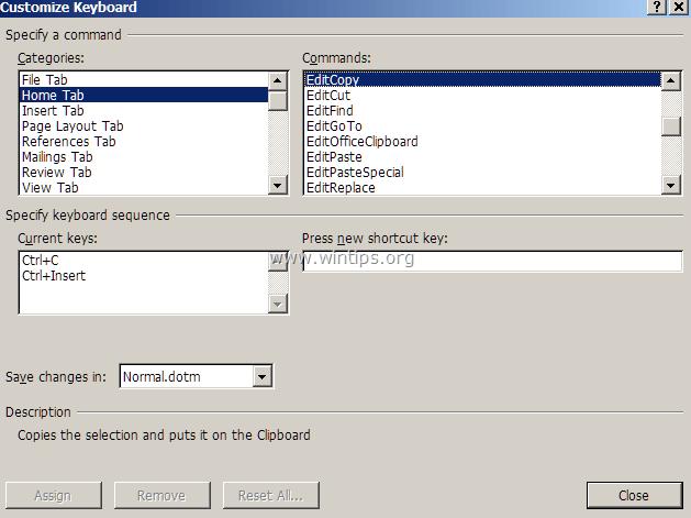 Sửa lỗi lệnh Copy Paste không hoạt động trên Word, Excel (2007, 2010)