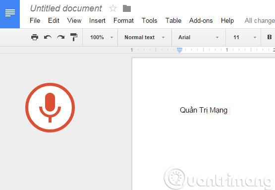 Soạn thảo văn bản bằng giọng nói trên Google Docs