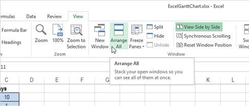 Cách mở nhiều bảng tính cạnh nhau trong Excel 2013