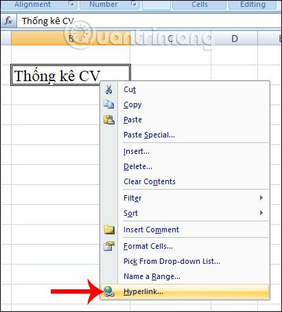 Cách tạo Hyperlink để liên kết bảng tính trong Excel