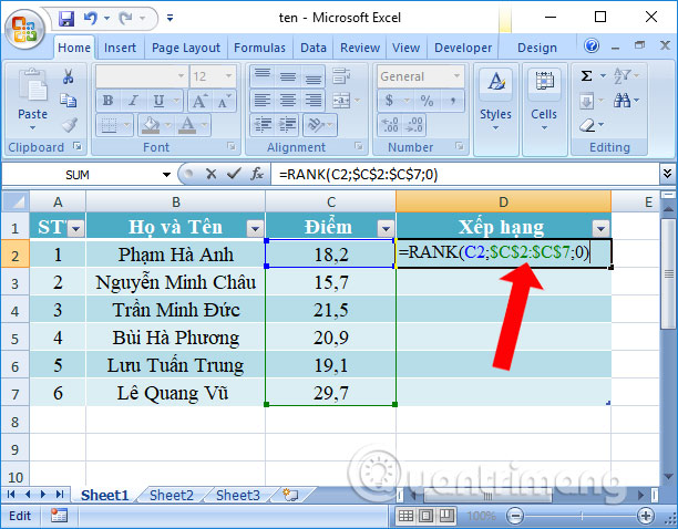 """Cách sửa lỗi Excel """"The formula you typed contains an error"""""""