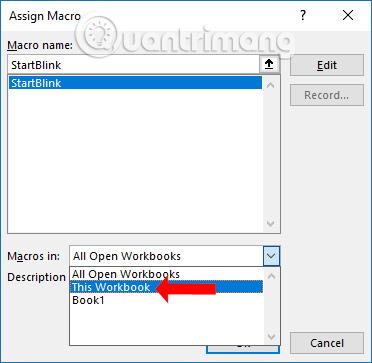 Cách tạo chữ nhấp nháy trên Excel