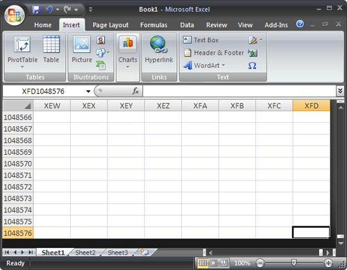 Những điểm mới trong Microsoft Office Excel 2007