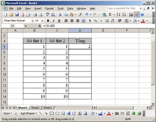 MS Excel 2003 - Bài 2: Định dạng dữ liệu bảng tính