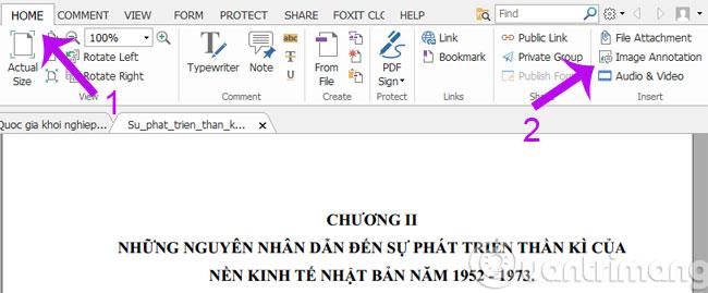 Chèn ảnh vào file PDF với Foxit Reader