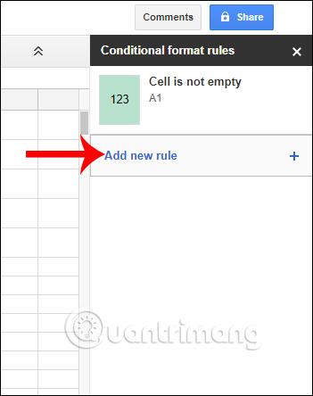 Cách định dạng ô có điều kiện trong Google Sheets