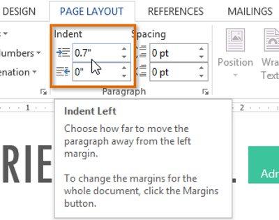 Hướng dẫn toàn tập Word 2013 (Phần 8): Sử dụng Indents và Tabs