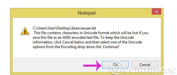 Khắc phục lỗi hiển thị và không lưu được tiếng Việt trong Notepad