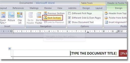 Thêm các tiêu đề trang chẵn và lẻ trên Word 2007