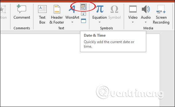 Cách chèn đồng hồ vào PowerPoint