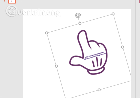 Cách lật, xoay hình ảnh trên PowerPoint