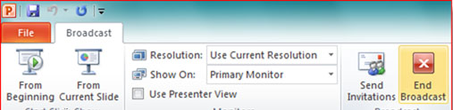 Hướng dẫn trình chiếu file PowerPoint 2010 qua Internet