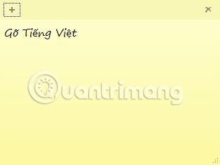 Hướng dẫn cách gõ Tiếng Việt trên Sticky Notes