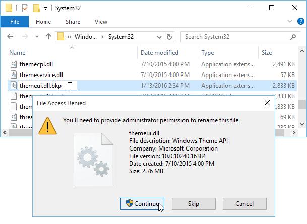 Hướng dẫn cài đặt bộ theme từ bên thứ 3 trên Windows 10