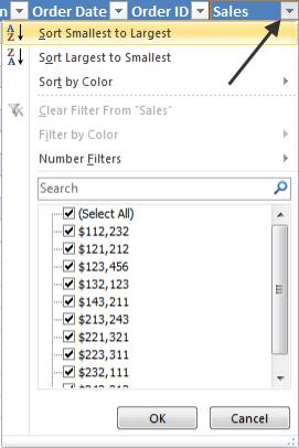 Sử dụng hiệu quả tính năng bảng trong Excel 2010