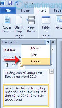 Hướng dẫn sử dụng Navigation Pane trong Word 2010