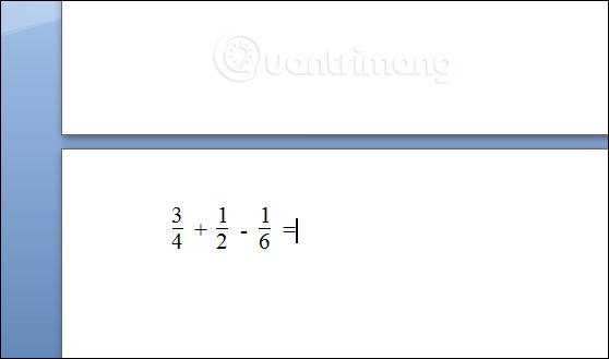 Cách viết phân số trên Word