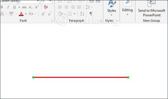 Hướng dẫn vẽ đường thẳng trong Word