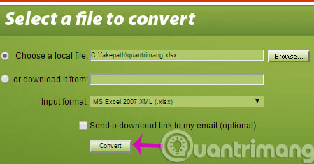 Cách đơn giản để chuyển đổi file XLSX sang XLS