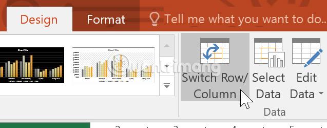 Làm việc với biểu đồ trong PowerPoint 2016