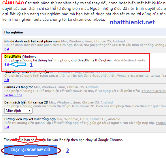 Fix lỗi font chữ Google chrome facebook