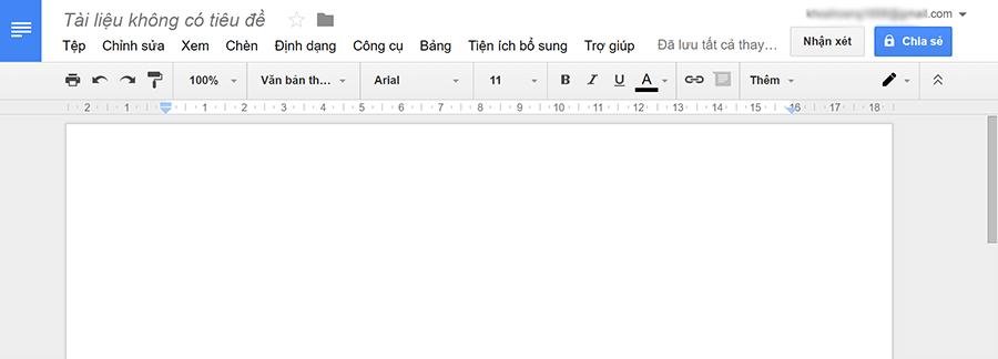Một trình nhập văn bản giống như trong word sẽ xuất hiện.