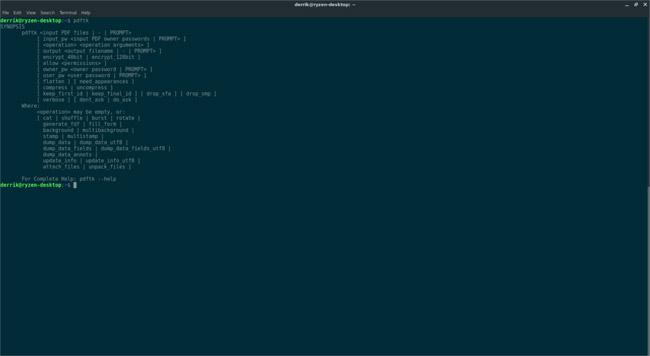 Cách tách file PDF từ Linux Terminal bằng PDFtk