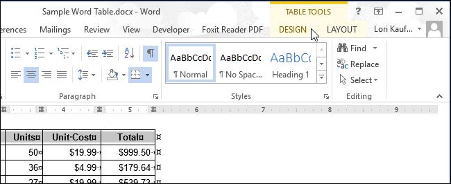 Hướng dẫn thêm màu nền vào từng ô trong bảng trên Word