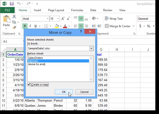 Hướng dẫn sao chép hoặc di chuyển Worksheet trong Excel 2013