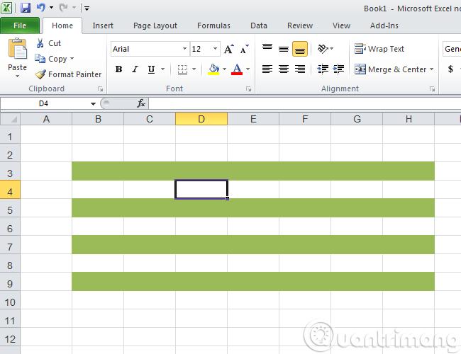 4 bước cơ bản để tô màu xen kẽ các dòng trong Microsoft Excel