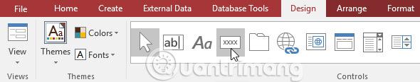 Định dạng biểu mẫu trong Access 2016