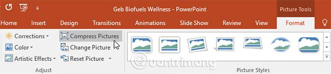 Định dạng hình ảnh PowerPoint 2016