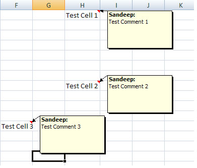 Sử dụng Comments Tool trong MS Excel
