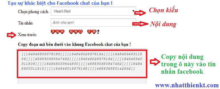Tool tạo kiểu chữ đẹp mắt trong chat box facebook - mẹo hay facebook