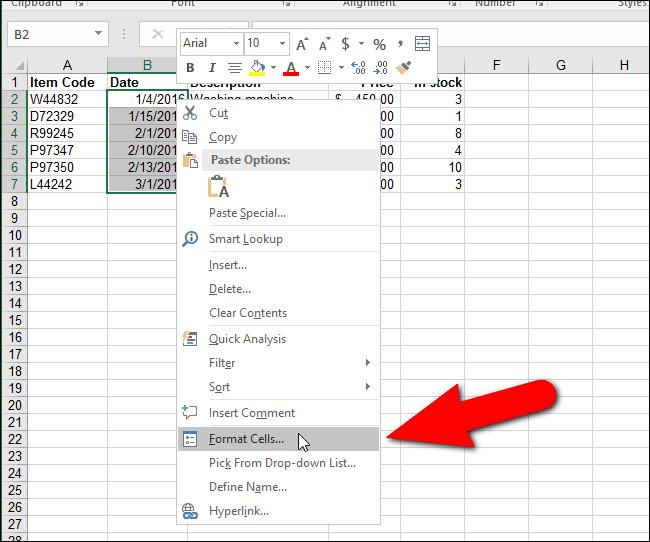 Đổi dấu gạch chéo thành dấu chấm trong định dạng ngày trên Excel