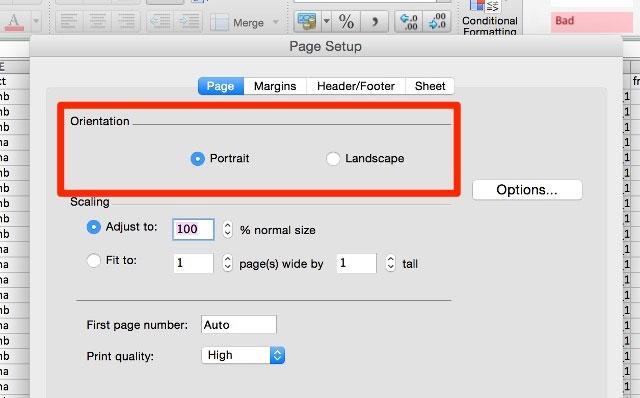 Cách in bảng tính Excel trong một trang
