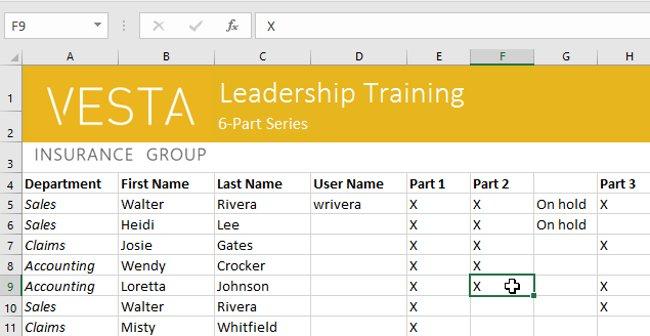Hướng dẫn toàn tập Excel 2016 (Phần 5): Khái niệm cơ bản về các ô và dải ô