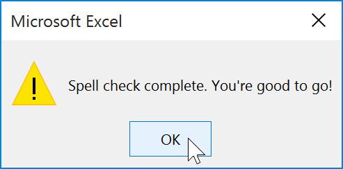 Hướng dẫn toàn tập Excel 2016 (Phần 11): Kiểm tra chính tả trong trang tính