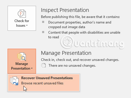 Cách lưu bài thuyết trình trong PowerPoint 2016