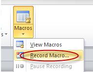 Tạo và sử dụng các macro tự động trong Word 2010