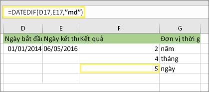 [Tếu vui] Lập công thức Excel  tính số ngày bạn đã sống trên đời này.
